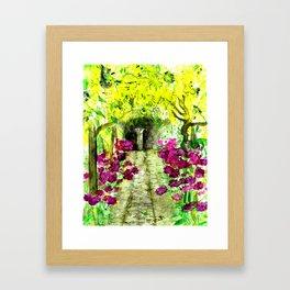 Italian Garden Watercolour  Framed Art Print