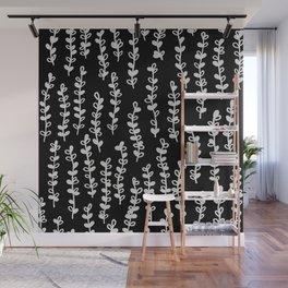 Vines on Black Wall Mural