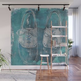 Turquoise Shoes Wall Mural