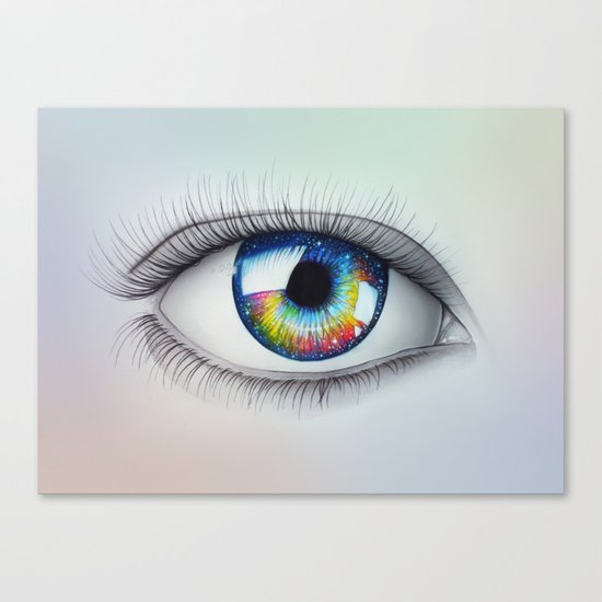 """""""Universe in your Eyes"""" Canvas Print"""