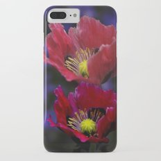 Poppies in the dark iPhone 7 Plus Slim Case