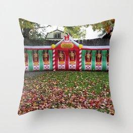 Santa's Getting Ready! Throw Pillow