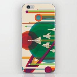 NASA Retro Space Travel Poster #5 iPhone Skin