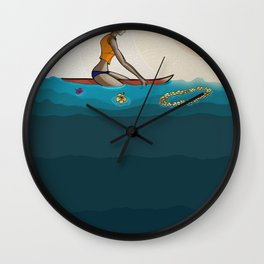 surfing in sunnies Wall Clock