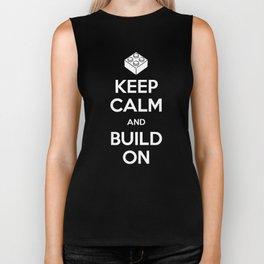 Keep Calm and Build On Biker Tank