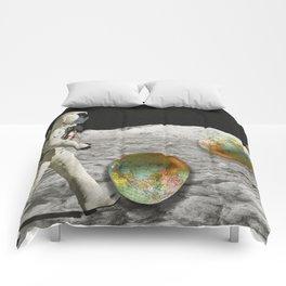 Moon Shot #collage Comforters
