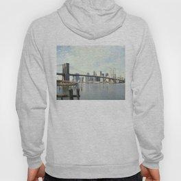 Brooklyn Bridge and Manhattan Photograph Hoody