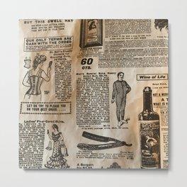Old Vintage Advertising Metal Print