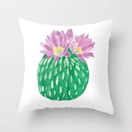 Peyotillo cactus Throw Pillow