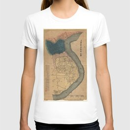 Map of Shanghai, China (1884) T-shirt