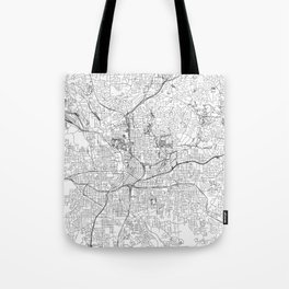 Atlanta White Map Tote Bag