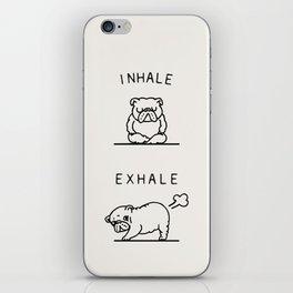 Inhale Exhale English Bulldog iPhone Skin