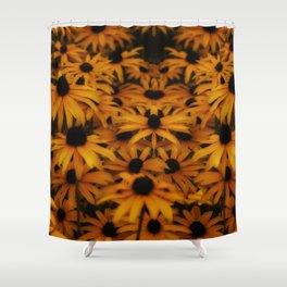 Black-Eyed Susan, yellow autumn daisy Shower Curtain