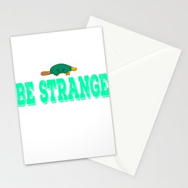 """Be Extra Ordinary Be Strange""  tee design for unique and awesome people like you! Makes a cool gift Stationery Cards"
