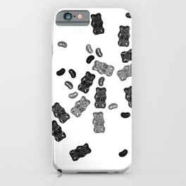 Black and White Gummy Bears Explosion iPhone Case