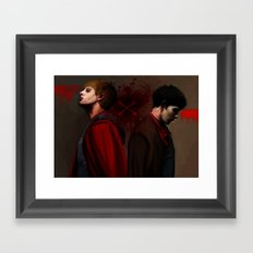 Two Sides of the Same Coin Framed Art Print