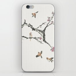 Sparrows & Blossoms iPhone Skin