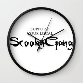 Support your local Scooby Gang Wall Clock