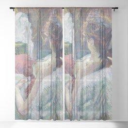 Henri de Toulouse-Lautrec - The Model Resting Sheer Curtain