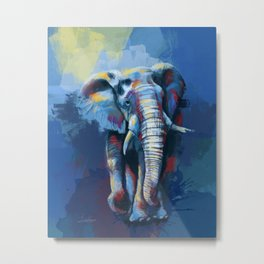 Elephant Dream - Colorful wild animal digital painting Metal Print