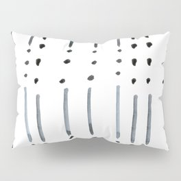 black and white dots and dashes boho modern Pillow Sham