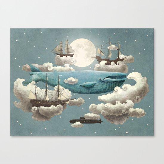 Ocean Meets Sky - colour option Canvas Print