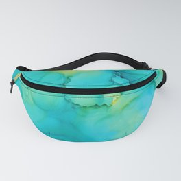 Alcohol Ink - Turquoise Citrus Fanny Pack