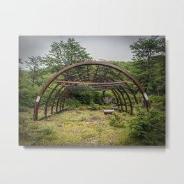 Rusted Abandoned Hanga, Patagonia, Chile Metal Print
