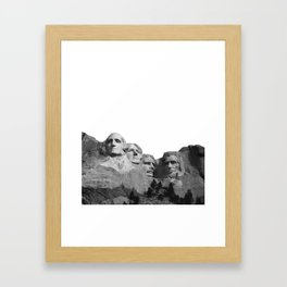 Mount Rushmore National Memorial South Dakota Presidents Faces Graphic Design Illustration Framed Art Print