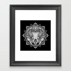 Elephant Medallion Framed Art Print