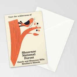 Shawnee National Forest Vintage travel poster Stationery Cards
