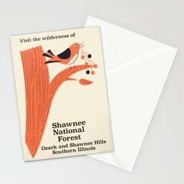 Shawnee National Forest Vintage travel poster Stationery Cards