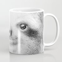 sloth Mugs featuring Sloth by Eric Fan