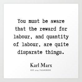 28  | Karl Marx Quotes | 190817 Art Print