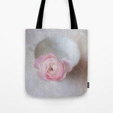 Pale Pink Textured Ranunculus Tote Bag