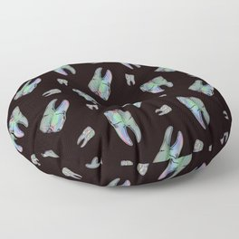 Loose Toothache - Hologram on Black Onyx Floor Pillow