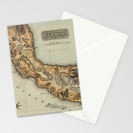 Vintage Curacao Map (1823) Stationery Cards