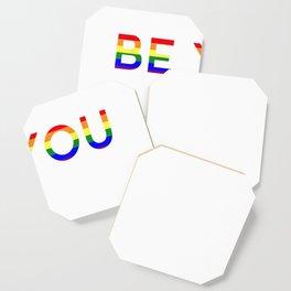 Be You Rainbow Gay Parade Pride Anniversary Shirt Gift T-Shirt Coaster