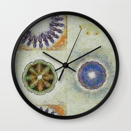 Mayapples Pattern Flowers  ID:16165-061955-58480 Wall Clock