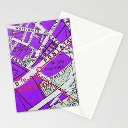 Paris in Purple Stationery Cards