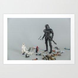 Sandbox Trooper Art Print