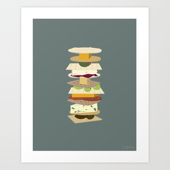 Cheese Stack Art Print