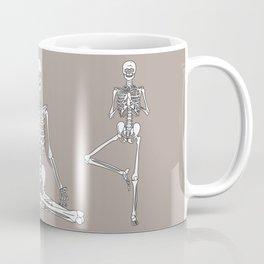 Skeleton Yoga Grey Coffee Mug