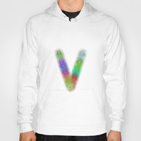 letter Hoodies featuring Letter V by David Zydd