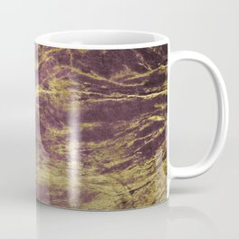 Classic Vintage Eggplant-Plum Faux Marble With Gold Veins Coffee Mug