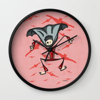 vampire Wall Clocks featuring Vampire by Giuseppe Lentini