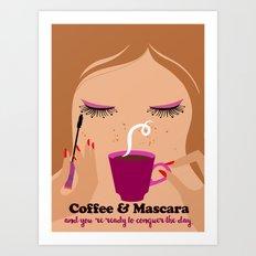 Coffee & Mascara Art Print