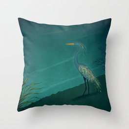 Camouflage: The Crane Throw Pillow