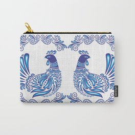 Abstract gzhel birds and ornament Carry-All Pouch