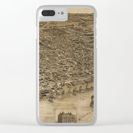 Vintage Pictorial Map of Memphis TN (1887) Clear iPhone Case
